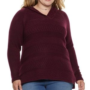 Plus Size SONOMA Super Soft Hooded Sweater